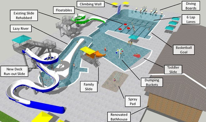 The design of a new city pool has been finalized, a project that was approved last year and saw demolition of the existing facility begin in January.