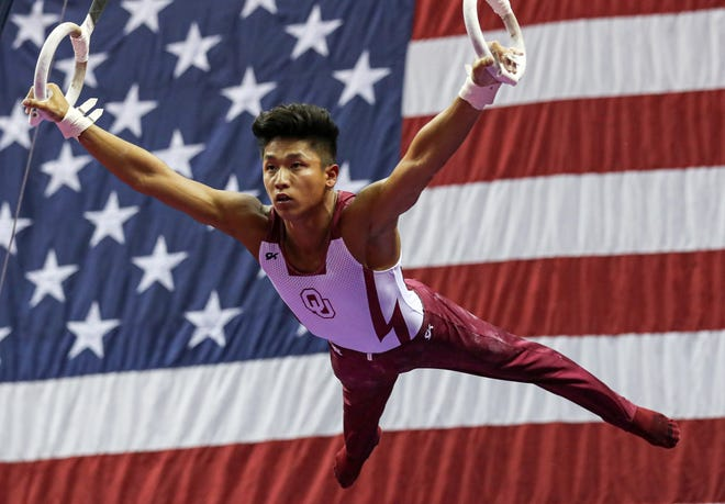 Yul Moldauer, seen here during the 2019 U.S. Gymnastics Championships, has emerged from a tough year with his Olympic dreams still intact. But the recent wave of anti-Asian hate has added another obstacle for the former Oklahoma standout.