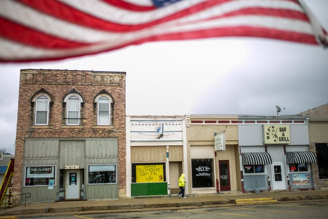 North Center Street in the downtown area Wednesday, March 24, 2021, in Durand.