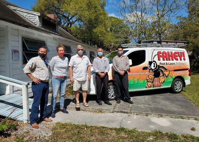 From left, Kyle Verona, Anja Palombo, Tom Hicks, Giacomo Minafra and Chris Zelinski at the Phillippi Crest Community Clubhouse.