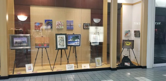 Some Off the Wall artworks are displayed at the Shawnee Mall through Sunday, March 28.