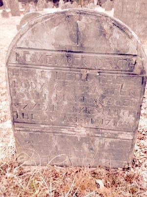The gravestone of John Morton of Middleboro