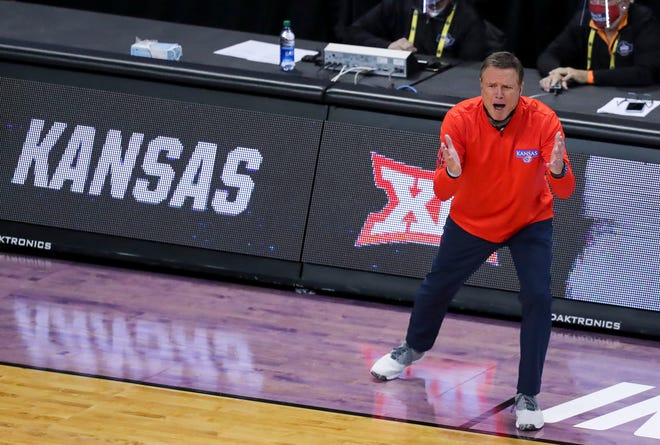 "Kansas basketball coach Bill Self said after the Jayhawks' season-ending 85-51 defeat to USC on Monday in Indianapolis that his team needs to get ""a little longer and bigger"" and ""a little bit more athletic"" in order to be a true national contender."