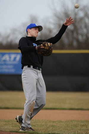 """Hayden Thompson, a senior first baseman and outfielder, is the only Central Crossing player who saw varsity action in 2019. """"The product we put on the field in the beginning of the season will look much different than what we'll have come tournament time,"""" coach Scott Todd said."""