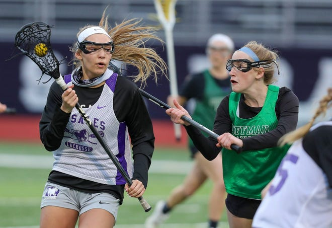 Senior midfielder Gabby Mahaffey is one of the top returnees for the DeSales girls lacrosse team. In 2019, she helped the Stallions go 21-1 and win the Division II state championship.