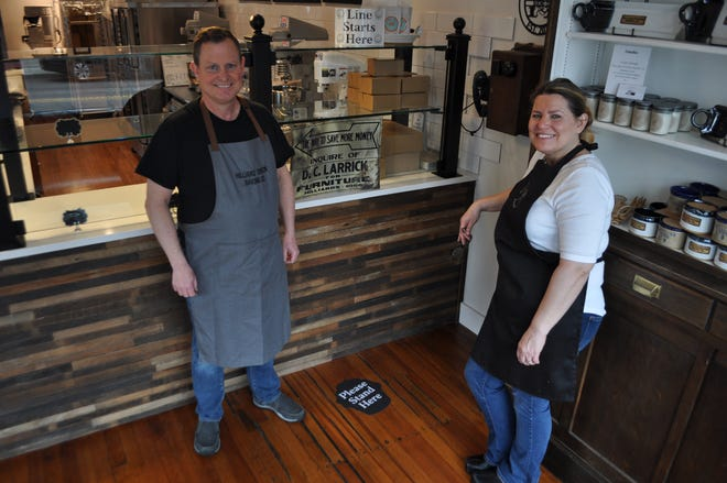 David Baldridge and his wife, Tracy, own and operate Hilliard Station Baking Co. The bakery showcases a little history, including a 1930s-era telephone once used at a train station and a tin sign found in the rafters of the remodeled building.