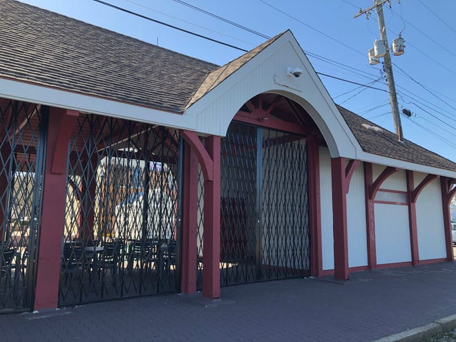 The old train station on Merchant's Way is all dressed up and ready to go.