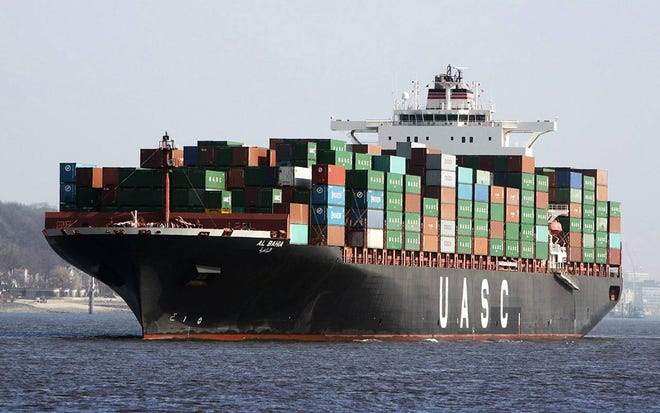 The Al Bahai cargo container ship will undergo various upgrades at Port Canaveral in April so it can qualify for inclusion in the federal Maritime Security Program. It will be renamed the Delaware Express.