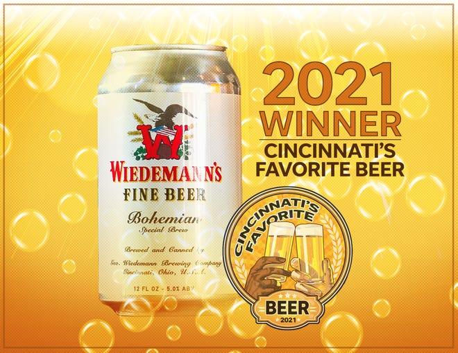 Bohemian Special Brew from Wiedemann's Fine Beer is Cincinnati's Favorite Beer 2021.