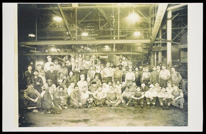 Many workers at the Bettendorf Foundry, pictured here in 1925, lived nearby in the Holy City neighborhood.