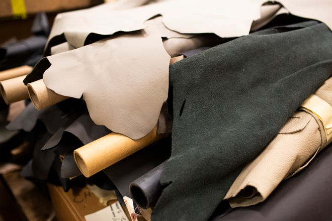 Ford Motor Co. discovered thousands of dollars worth of hide initially order for pre-production models. The huge supply of leather was donated to local businesses Pingree Detroit and Mend on the Move as part of an ongoing recycling effort.