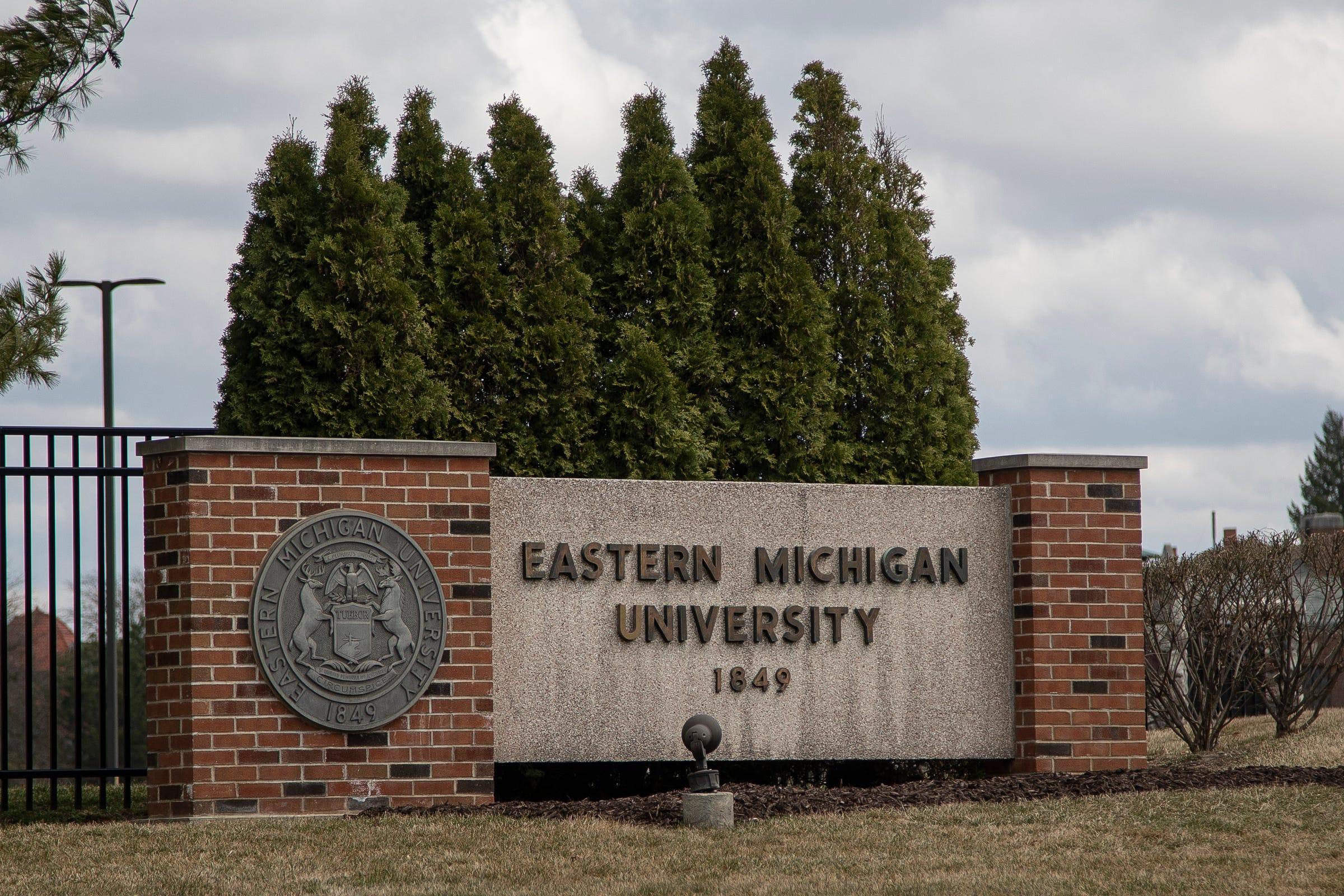 Eastern Michigan University campus in Ypsilanti, Wednesday, March 24, 2021.
