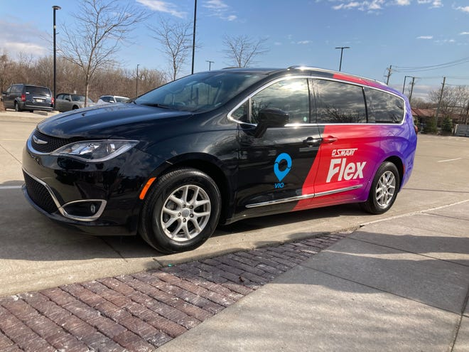 SMART Flex is an on-demand service for mini rides and cost no more than $8. The new service is available in Dearborn, Troy and the Hall Road corridor.