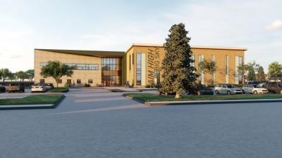 Rendering of the proposed Aim High Big Sky aquatics center.