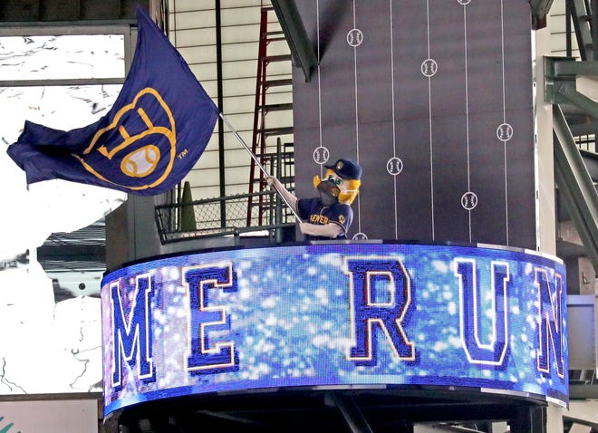 Fans can enjoy the hijinks of Bernie Brewer after they get COVID-19 vaccinations at American Family Field Wedesday and Thursday.