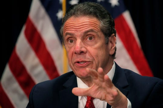 New York Gov. Andrew Cuomo speaks during a news conference at his offices in New York, Wednesday, March 24, 2021.