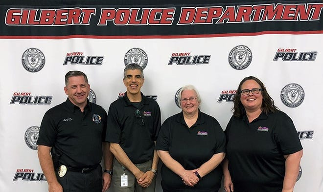 Gilbert Police Chief Michael Soelberg alongside presenters from the Arizona Commission for the Deaf and Hard of Hearing.