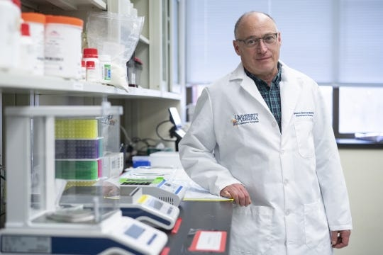 UVA Health's Dr. Steven L. Zeichner is the McClemore Birdsong Professor in the Departments of Pediatrics and Microbiology, Immunology and Cancer Biology, the director of the Pendleton Pediatric Infectious Disease Laboratory and part of UVA Children's Child Health Research Center.