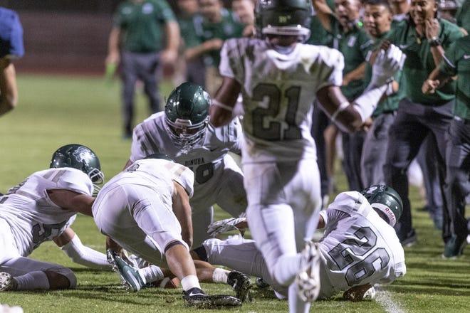 The Dinuba High School football team will play a four-game season this spring.