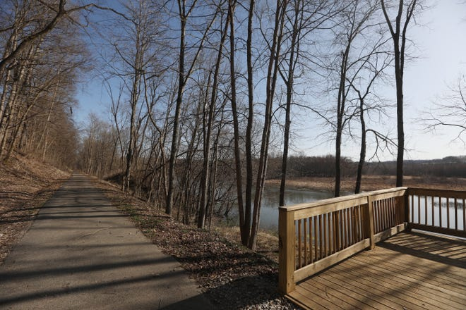 A recent donation to the Muskingum Valley Park District by Dr. Carl Schowengerdt will help maintain the district's recreational trails, including the Muskingum Recreational Trail, seen near Ellis Dam.