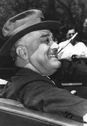 President Franklin D. Roosevelt in Warm Springs, Georgia, in 1939.