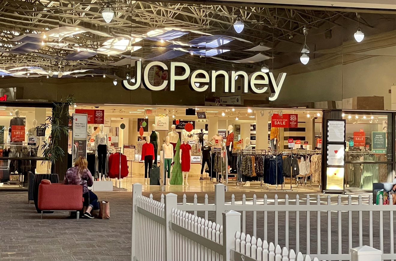 JCPenny closures 2021