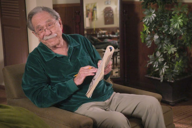 "George Segal in a scene from the comedy series, ""The Goldbergs."""