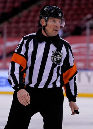 NHL referee Tim Peel will no longer work games after a hot mic incident.