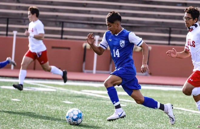 Palo Duro's Jaime Carrillo scored two goals to help the Dons secure a 4-3 win over El Paso Bowie in a Region I-5A quarterfinal match last Saturday at Grande Communications Stadium in Midland.
