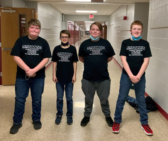 Crestview Team A composed of Hudson Stacy, Drew Ramsey, Jess Ames and Wyatt Love won the sixth-grade Academic Challenge tournament in Mansfield.