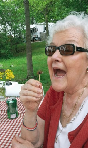 Diane Linn Miller, 80, of Mansfield, had second thoughts about eating a cicada when brood V emerged in the eastern half of Ohio in 2016. Instead, she kissed the cicada to bring herself good luck fishing.