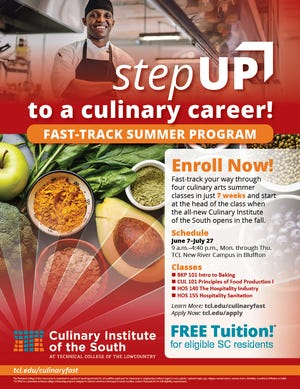 TCL's Culinary Institute of the South will begin offering classes this summer in Bluffton, S.C.