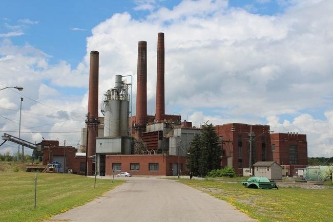 The Greenidge electric power plant near Dresden.