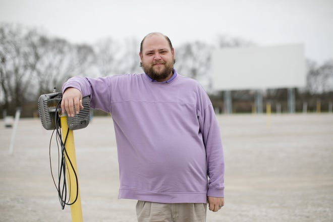 Bryon Teagardner, owner at the South Drive-In, is eager to begin the outdoor-movie season.