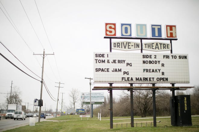 The South Drive-in in Columbus is among a variety of places showing outdoor movies this weekend.