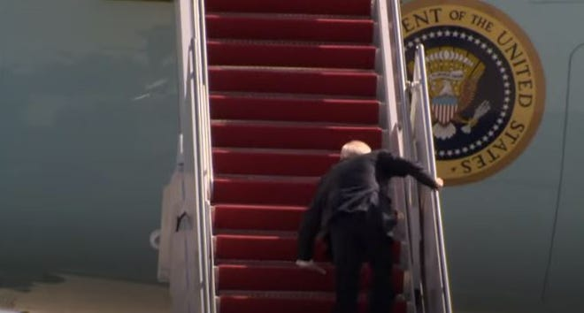 President Joe Biden's falls March 19 on the stairs leading to Air Force One.