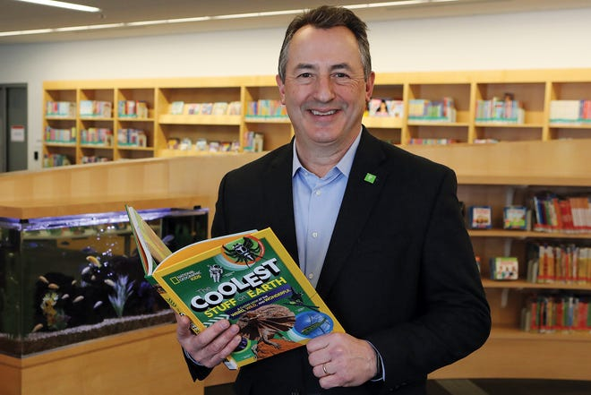Patrick Losinski, CEO of the Columbus Metropolitan Library, in the children's department at Main Library in Downtown Columbus