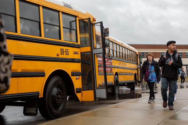Students at Columbia Central High School are dismissed early as a flood warning was issued for portions of southern Middle Tennessee on Wednesday, Feb. 20, 2019.