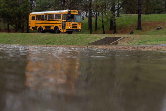 Students at Columbia Central High School are dismissed early as flood warning was issued for portions of southern Middle Tennessee. on Wednesday, Feb. 20, 2019,