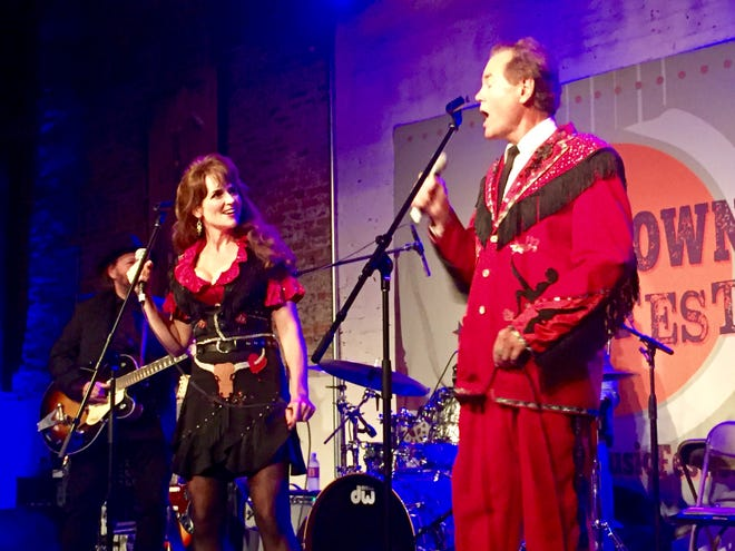 The Doyle and Debbie Show brings laughs and country swing to an audience at Puckett's Upstairs during the third annual Muletown MusicFest in 2017.