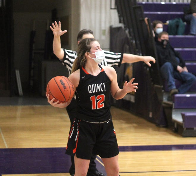 The Quincy Lady Orioles were led by the return of Haley Hinds, shown here in early season action. Quincy battled but fell to Concord in the D3 District semifinals Wednesday