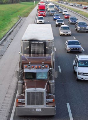 Trucks stay clear from interstate left lanes.