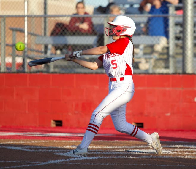Glen Rose's Alli Austin got into the home run act as well with a two-run homer in the first inning Tuesday night.