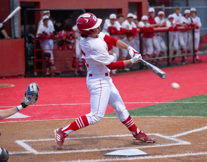 Glen Rose's Reese Villareal drove in a pair of runs for the Tigers in their loss to Lampasas on Tuesday night.