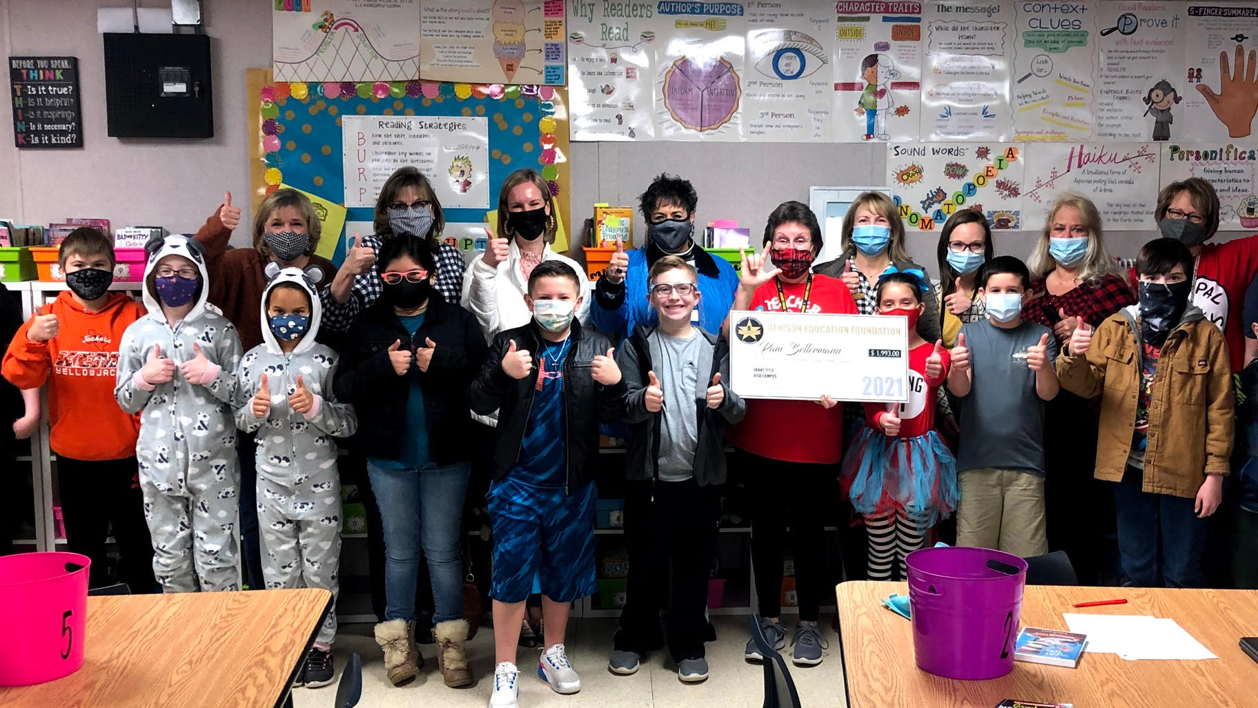 """Pam Bellermann, reading specialist for grades K-4 at Hyde Park Elementary, received a generous grant from the Denison Education Foundation for an innovative reading program entitled """"The Gift of Reading."""" """"There is no greater honor, responsibility or joy than to give the gift of reading to children,"""" said Bellermann."""