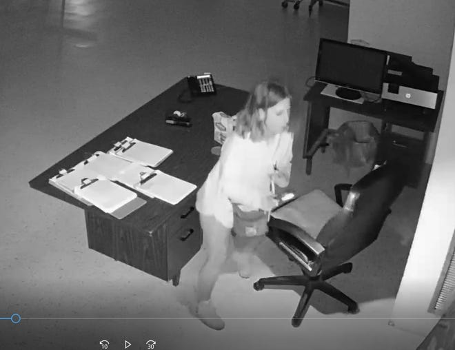The Hendersonville Police Department is searching for the suspect in a break-in at World of Clothing on March 21.