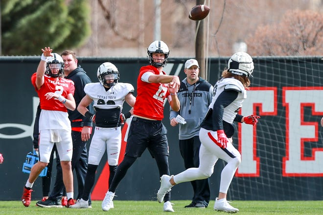 Texas Tech's Tyler Shough is expected to be the Red Raiders' starting quarterback this season. He arrived this spring as a graduate transfer from Oregon.
