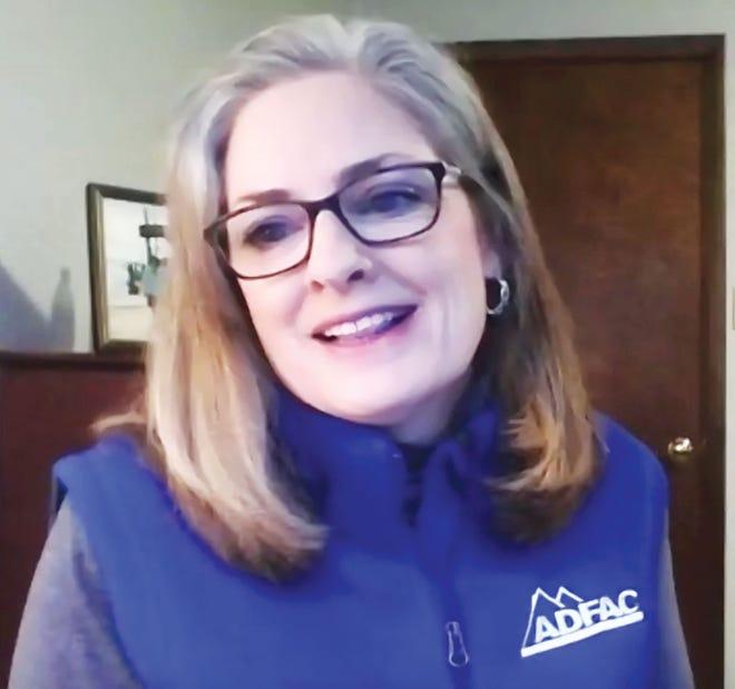 Annie Cacheiro via Zoom updates First Presbyterian Church members on ADFAC'sexperiences in 2020.