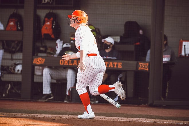 Senior Hayley Busby and the Oklahoma State Cowgirls open Big 12 play at Kansas on Friday.