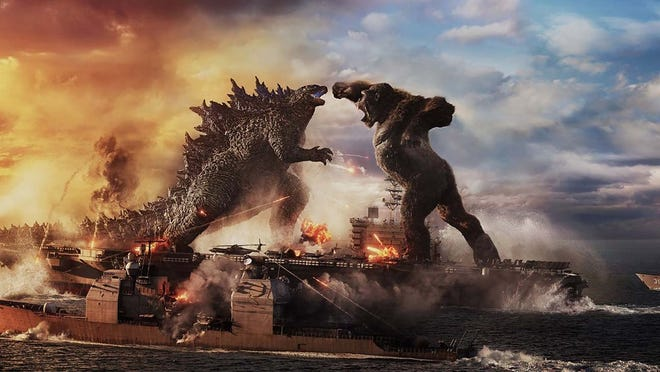 """""""Godzilla vs. Kong"""" opens in theaters Wednesday, and Regal Cinemas will open Moore's Warren Theatre April 2."""